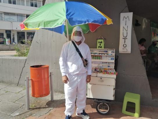 Supervivencia en tiempos de pandemia: la brega diaria del vendedor informal de Pitalito
